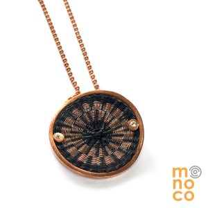 Grid Copper/Horse Hair Copper Pendant