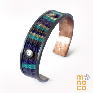 Narrow Copper Horse Hair Bangle