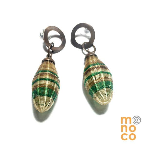 Aros Maya Cobre Beige/ Verde