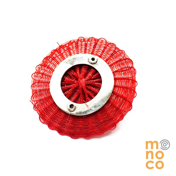 Broche Disco Crin Rojo