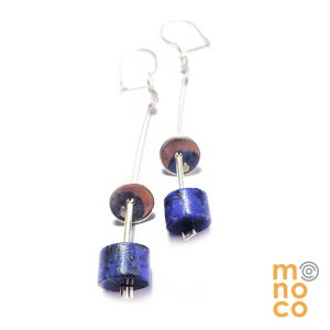 Lapis Lazuli Cilinder Earrings