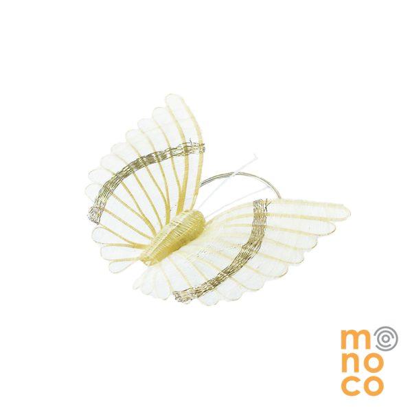 Prendedor Mariposa Crin/Plata