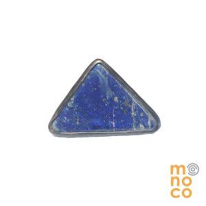 Anillo Triangular Lapislázuli Cobre