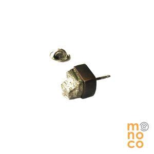 Pin Cubo Pirita Cobre