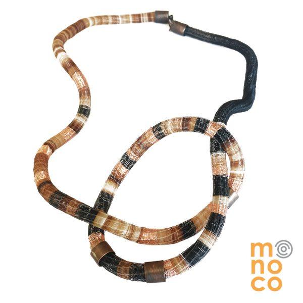 Collar Cobre Cat Largo Crin/Cobre