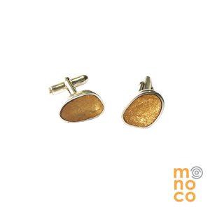 Colleras Irregulares Resina Oro