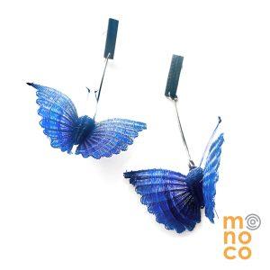 Aros Colgante Mariposa Cobre
