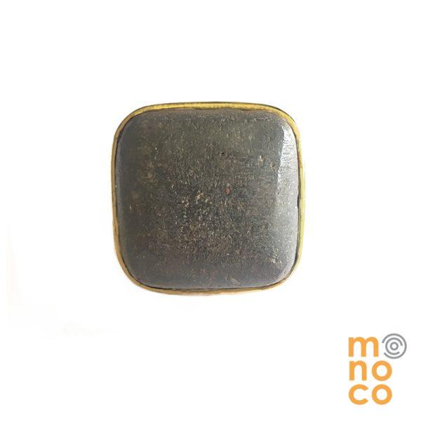 Anillo Cuadrado Lava Bronce
