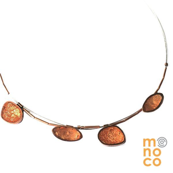 Collar De Cobre Resina/Cu Irregular
