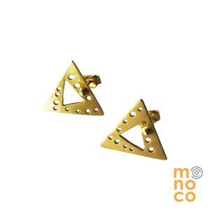 Aros Tope AOE Triángulo Dorado