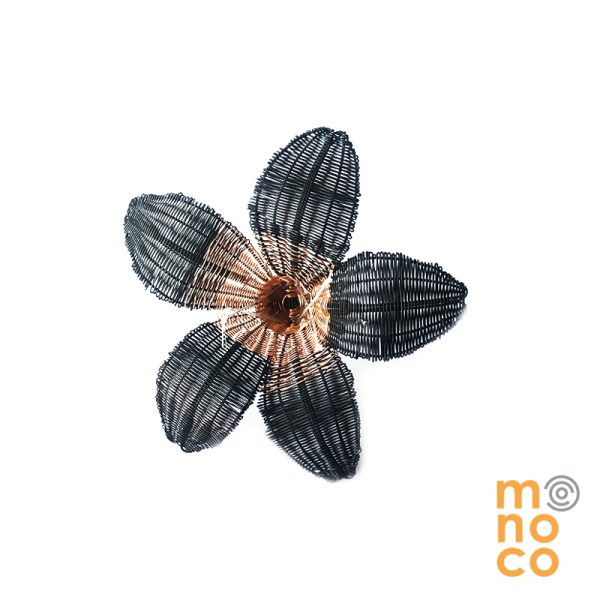 Pin Flor Crin Cobre