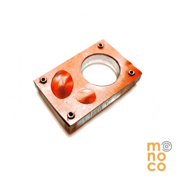 Anillo Rectangular Aluminio Anodizado y Acrílico