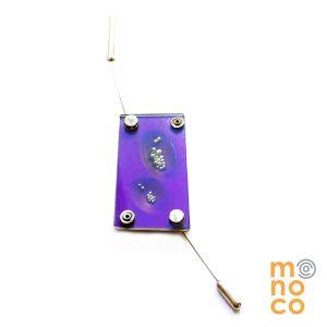 Pin Aluminio Anodizado y Acrílico