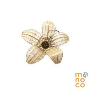 Broche Flor Crin Plata