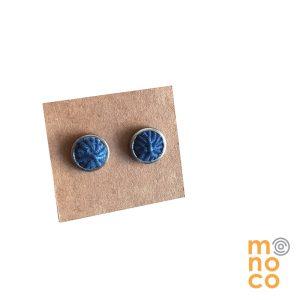 Aros Luna Acero Mini Azulosos