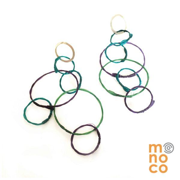 Aros Troya Calipso/Verde/Morado