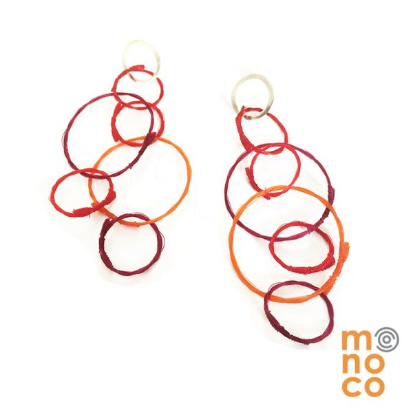Aros Troya Rojo/Fucsia/Naranjo