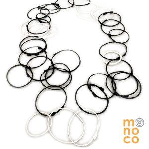 Collar Troya Negro/Blanco