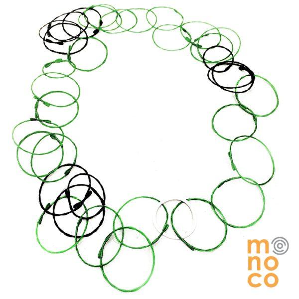 Collar Troya Verde/Negro