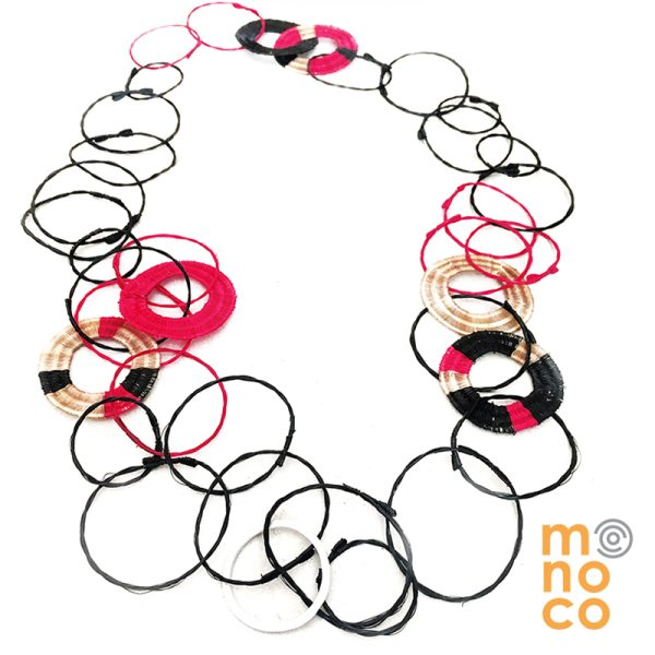 Collar Troya Seis Negro/Rojo